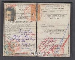 Vietnam South $ 180.00 Revenue Stamps On Document (DL) 1956