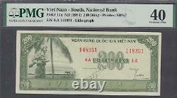 Vietnam South National Bank 200 Dong Banknote P-14a 1955 PMG 40
