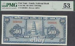 Vietnam South National Bank 500 Dong Banknote P-10a 1955 PMG 53