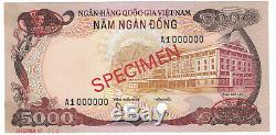 Vietnam South SPECIMEN 5000 Dong 1975 PICK# 35s Choice UNC. (#1642)