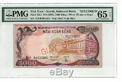 Vietnam South SPECIMEN 5000 Dong 1975 PICK# 35s1 PMG-65 EPQ (#1315)