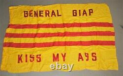 Vietnam South Vietnamese RVN National Flag MODIFIED BY US NAVY FLIGHT CREW