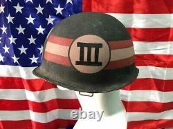 Vietnam War South Vietnam Army military Police steel Pot Helmet withwartime photo