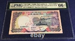 Vietnam south 10000 dong 1975 pick 36s1 specimen PMG66