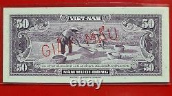 Vietnam (south) 50 Dong 1952 P-7 Giay Mau = Specimen Rare