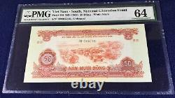Vietnam south 50 dong 1968 pick R8 PMG64 rare unissued type