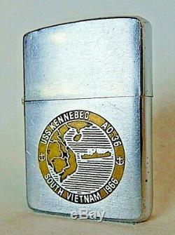 Vintage Vietnam Zippo Lighter, US Navy, USS KENNEBEC AO-36, South Vietnam 1966