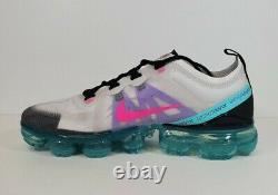Womens Nike Air Vapormax 2019'South Beach' Shoes Size 8 White Pink AR6632-005