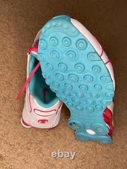 Womens Nike Shox NZ EU White Turquoise Pink Miami South Beach 488312-146 7.5