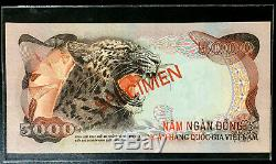 10466 Sud Vietnam Specimen 5000 1975 Au Dong 5,000 Unc P 35 S