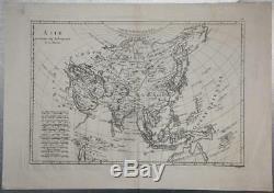 1780 Rigobert Bonne Carte Asie Inde Chine Japon Corée Du Nord Australie Du Sud