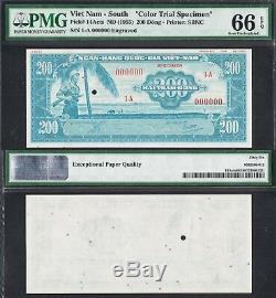 1955 South Vietnam 200 Dong P-epq 66/67 14acts Pmg Uniface Proof Specimen
