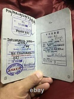 1968 Période De Guerre Du Vietnam Asie Du Sud-est U.s. Passeport Diplomatique Féminin X96