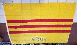 1969 Vietnam Du Sud Flag Annin & Co Numéro De Contrat Dsa Défense Agence D'approvisionnement