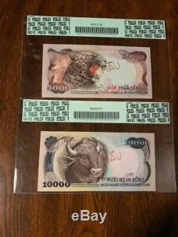 1975 Sud-vietnam 5000 $ Et 10 000 $ 67 Échantillons Pcgs
