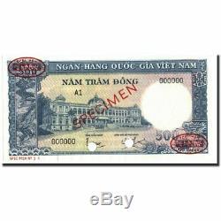 # 213823 Banknote, Viet Nam Du Sud, 500 Dng, 1962, Spécimen Tdlr, Km6as2