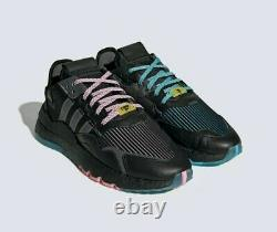 Adidas Nite Jogger Ninja Boost Q47198 Sneakers Chaussures South Beach Miami Msrp 150 $