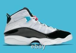 Air Jordan 6 Anneaux Sud Plage Blanc/noir Hommes Taille 13 (ck0017-100)