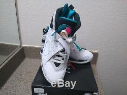 Air Jordan Retro 8 South Beach Taille Mens 10 Blanc / Blanc-turbo 113 Green305381