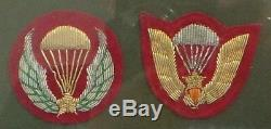 Armée Set Of 2 Framed Sudvietnamiens Correctifs Airborne. (ccb)