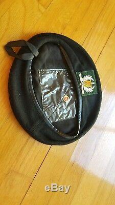 Arvn Sud-vietnam Champ Police Nationale Noir Beret Bonne Taille Exe 100% Original