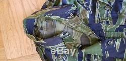 Arvn Sud-vietnam Tiger Stripe Camo Reporter Presse Bush Veste