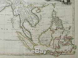 Authentique Carte Antique, 1700. Inde Et Asie Du Sud-est Lattre / Bonne