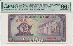 Banque Nationale Du Viet Nam Du Sud 200 Dong Nd (1958) Echantillon Pmg 66epq