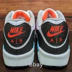 Chaussures Nike Air Max 90 G Golf Homme 10 White Hot Punch South Beach (cu9978-133)