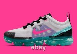 Chaussures Nike Air Vapormax 2019'south Beach' Taille 10 Rose Blanc Ar6632-005