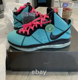 Ds Nike Air Lebron 8 Retro 2021 South Beach Taille 12 Hommes Cz0328 400