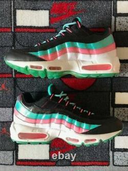 Ds Nike Air Max 95 Miami Vice Taille 10.5 330795 011 Black White South Beach