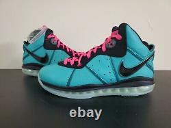 Ds Nike Lebron 8 VIII Qs South Beach 2021 Taille 9.5 Hommes En Paye