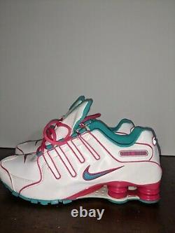 Femmes Nike Shox Nz Eu Blanc Turquoise Rose Miami South Beach 488312-146 Sz 10