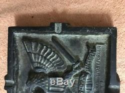 Guerre Rare Sud-vietnam En Laiton Massif Cendrier Insert Reliefs Arvn Militaire