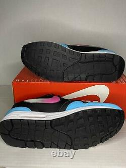 Homme Nike Air Max 1 Jelly Swoosh Size-12 Blue Fury South Beach (ci22450 001)