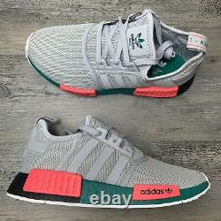 Hommes Adidas Nmd R1 Taille 8 South Beach Gris Running Shoe Fx4353