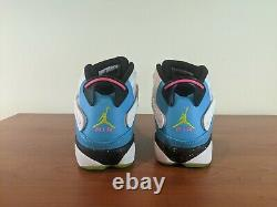 Jordan 6 Rings Mens Sneakers Blue Fury Cyber Pink South Beach Ck0018 100 Taille 13