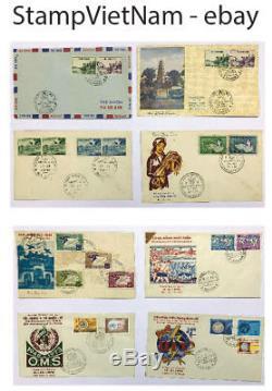 La Collection D'enveloppes Fdc Sud Viet Nam, 1952-1973 Comprend (72 Fdc)