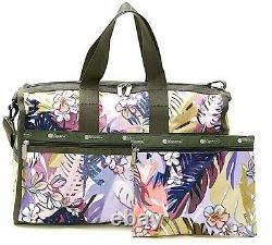 Lesportsac South Beach Palm Large Weekender Bag + Sac Cosmétique Tropical T.n.-o. F186