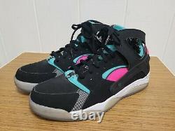 Nike Air Flight Huarache South Beach Miami Vice Spurs Sneakers Sz 13 Vgc