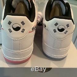 Nike Air Force 1'07 Qs Corée Du Sud White Tiger Cw3919-100 Sz 10 Marque New Withbox