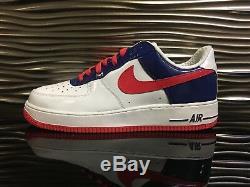 Nike Air Force 1 Premium Corée Du Sud Blanc / Grenadine-deep Royal 2006 Size12