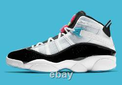 Nike Air Jordan 6 Anneaux South Beach Basketball Chaussures Ck0017-100 Taille 13