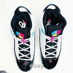 Nike Air Jordan 6 Bagues South Beach White Pink Blue Black Ck0017-100 Mens Sz 10