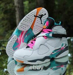 Nike Air Jordan 8 Retro South Beach Hommes Taille 9 Turbo Green 305381-113