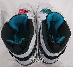 Nike Air Jordan 8 VIII Retro South Beach, 305381-113, Vert Blanc, Taille 10