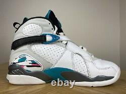 Nike Air Jordan 8 VIII Rétro South Beach White Green Size 8.5 305381-113