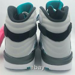 Nike Air Jordan VIII 8 Rétro South Beach Blanc Sarcelle Rose Og 305381-113 Multi Sz