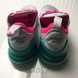 Nike Air Max 270 Blanc Rose Pure Platinum Chaussures De Course South Beach Femmes 7 Nouvelles